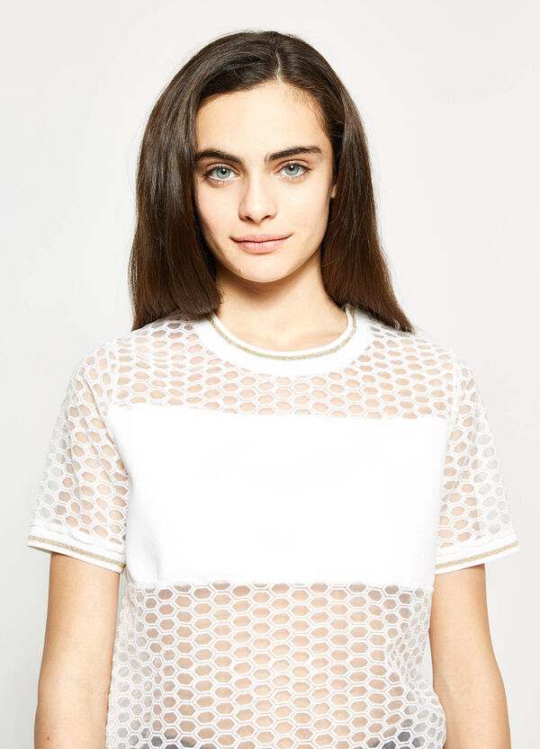 Teen semi-sheer patterned T-shirt | OVS