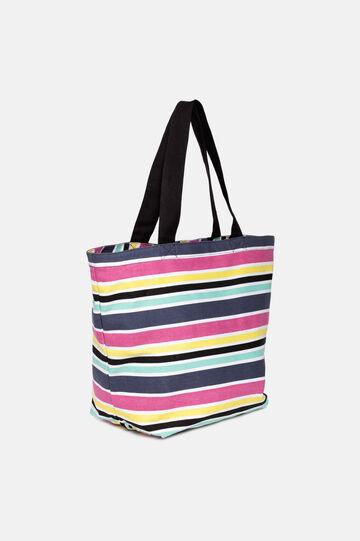 Striped fabric bag., Multicolour, hi-res