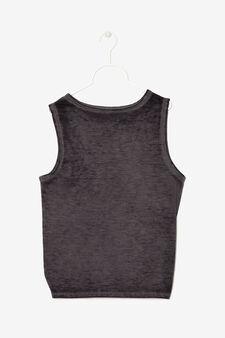T-shirt smanicata con nodo, Grigio fumo, hi-res