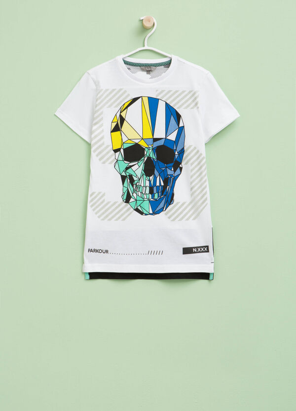 T-shirt con spacchi e maxi stampa | OVS
