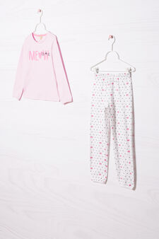 Printed pyjamas in 100% cotton, Light Pink, hi-res