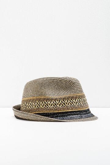 Cappello a falda larga in paglia fantasia