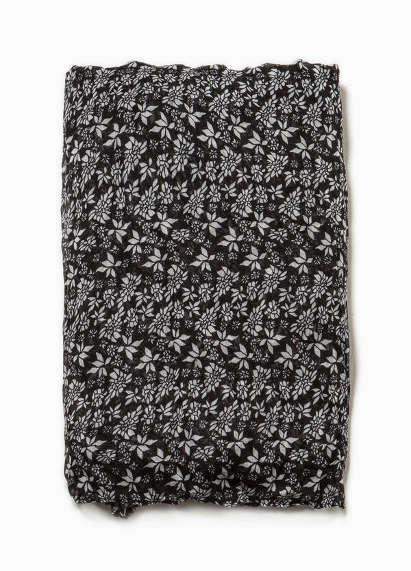Bufanda floral con efecto arrugado | OVS