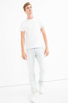 Solid colour slim fit jeans, Denim, hi-res