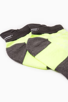 Two-pair pack OVS Active Sport Training socks, Neon Yellow, hi-res