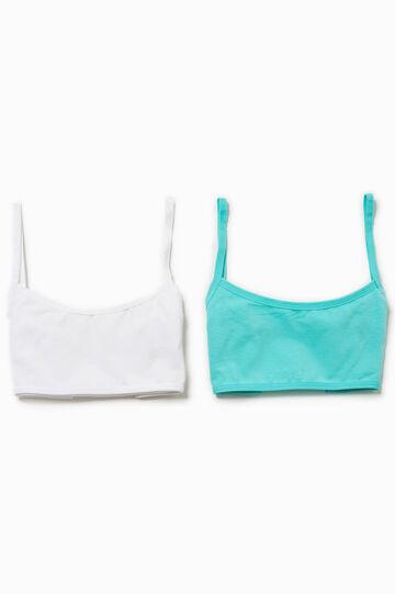 Two-pack Biocotton bandeau bras