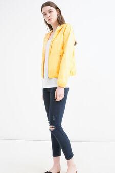 Hooded windbreaker, Yellow, hi-res