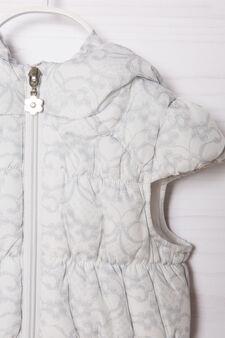 Gilet fantasia floreale, Bianco, hi-res