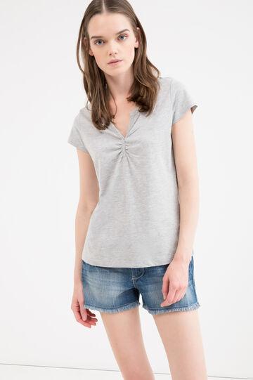 T-shirt puro cotone con strass