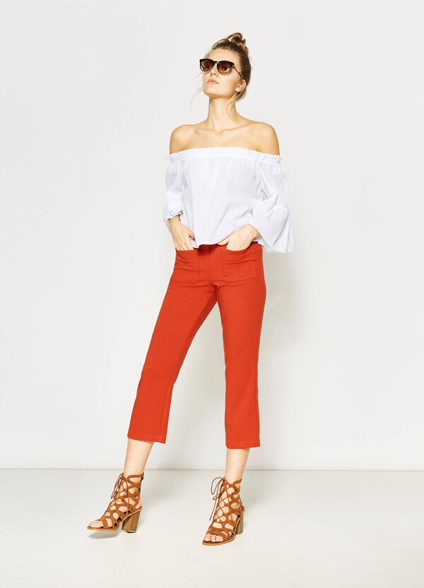 Pantaloni crop in viscosa stretch | OVS
