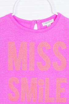 T-shirt stretch con stampa, Viola lilla, hi-res