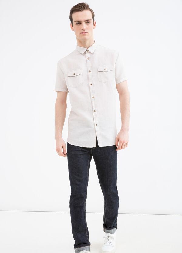 Camicia misto lino e cotone | OVS