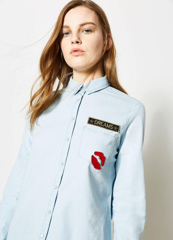 Camicia fondo stondato con taschino | OVS