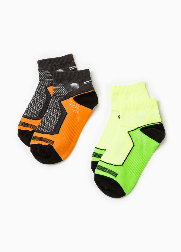 Two-pack embroidered sports socks | OVS