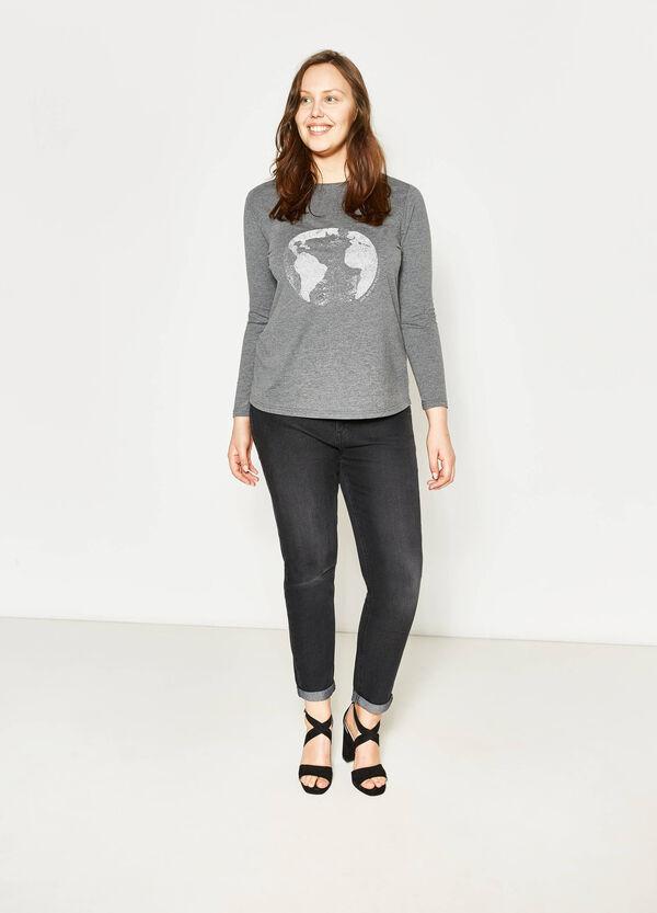 T-shirt mélange stampata Curvy | OVS