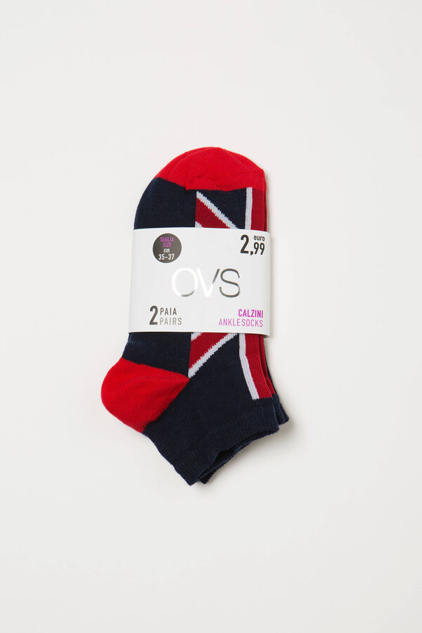 Two-pair short socks with print | OVS