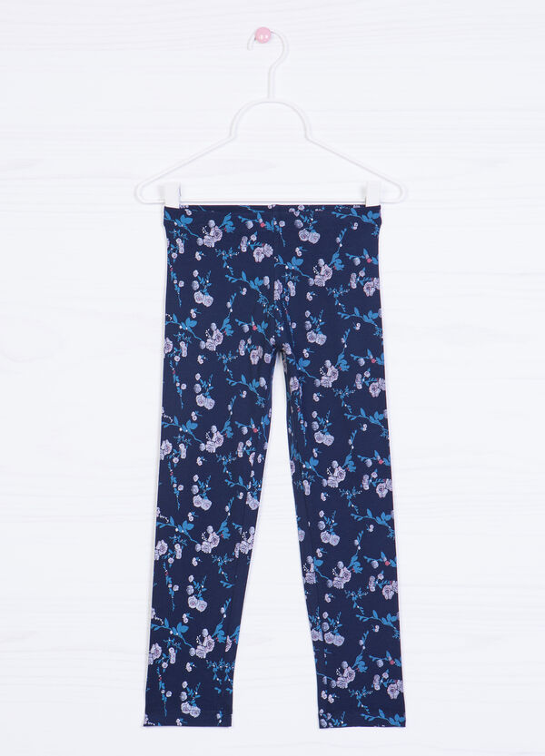 Printed stretch leggings | OVS