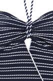 Costume intero stretch a righe, Bianco/Blu, hi-res