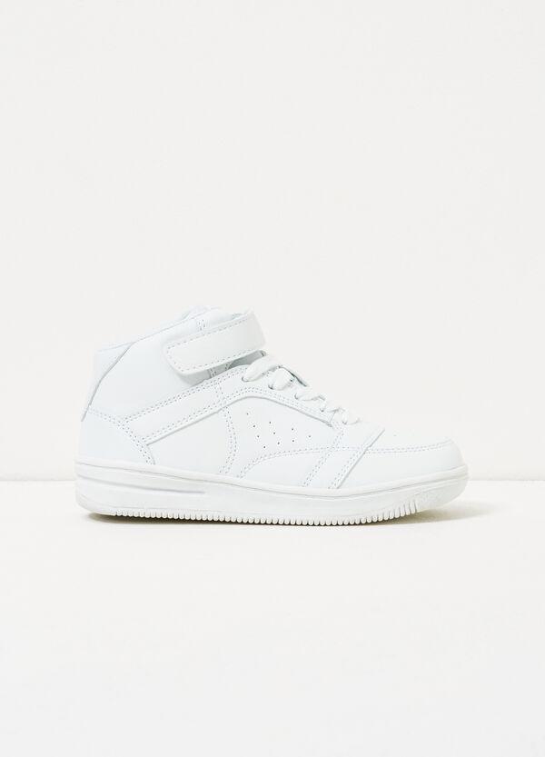 Sneakers alte con strappo tinta unita   OVS
