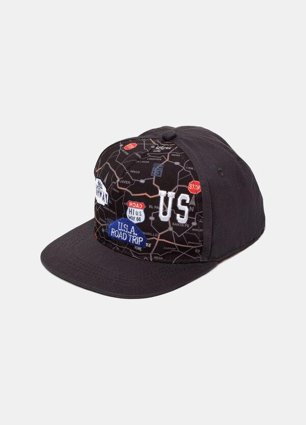 Cappellino baseball con ricamo e stampa   OVS