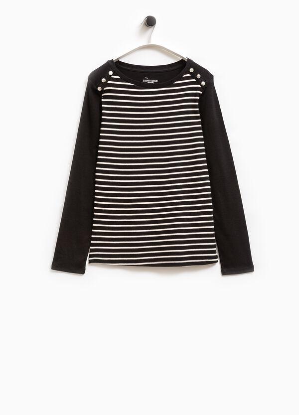 Smart Basic striped cotton T-shirt | OVS