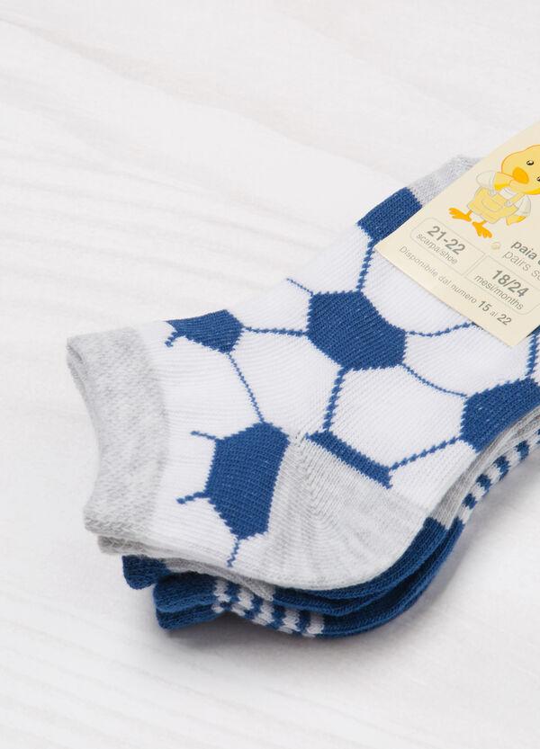 Set tre paia di calze corte fantasia | OVS