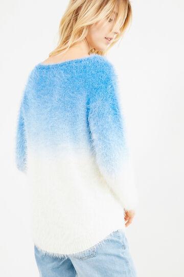 Knit degradé pullover, White/Light Blue, hi-res