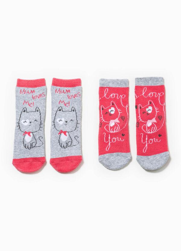 Set due paia di calze ricami gatto | OVS