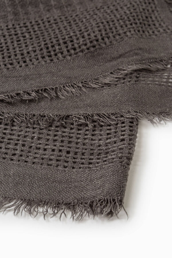 Solid colour openwork scarf | OVS