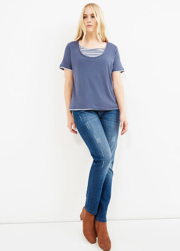 T-shirt puro cotone finto doppio Curvy | OVS