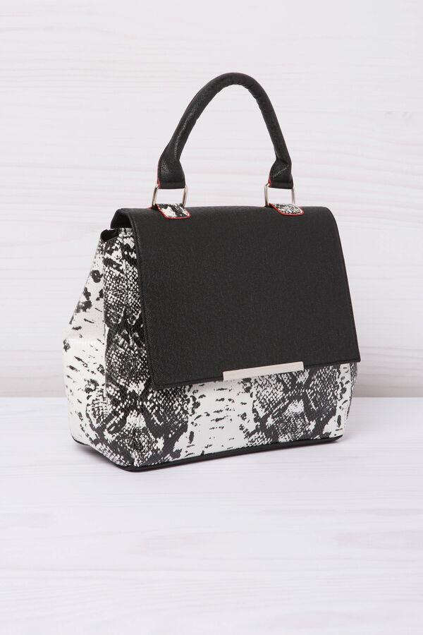 Animal print leather look handbag | OVS