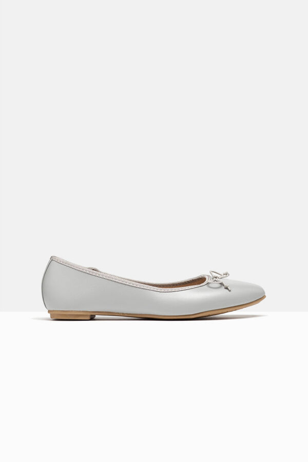 Pointed ballerina pumps with bow | OVS