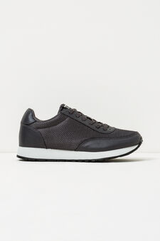 Sneakers with contrasting sole, Dark Grey, hi-res