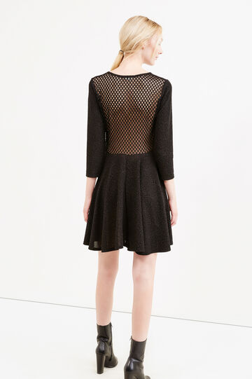 Dress with openwork design on the back, Black, hi-res