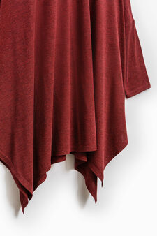 Smart Basic pleated viscose T-shirt, Red, hi-res
