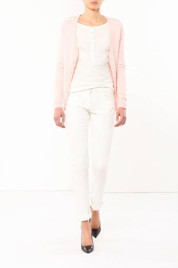 Long-sleeved cardigan, Pink, hi-res