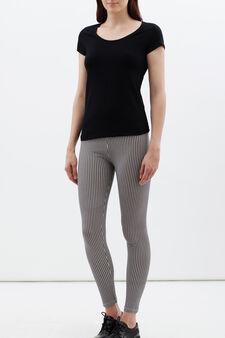 Leggings stretch, Bianco/Nero, hi-res