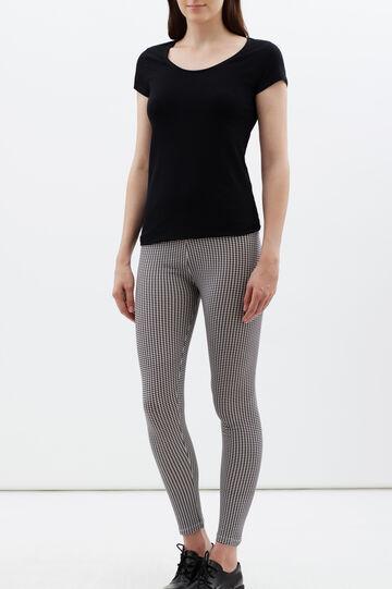 Stretch leggings, White/Black, hi-res