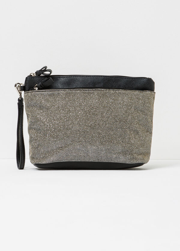 Glitter clutch with lace | OVS