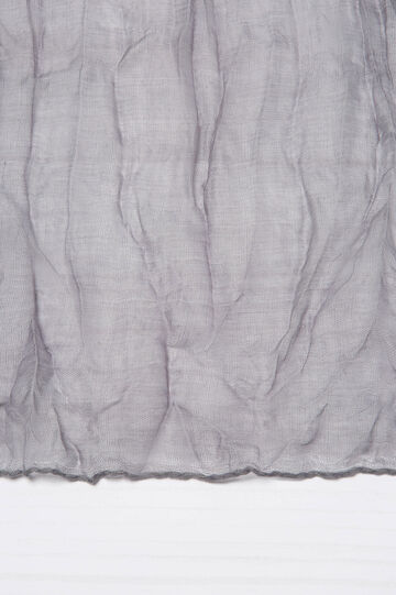 Crumpled effect fabric., Grey, hi-res