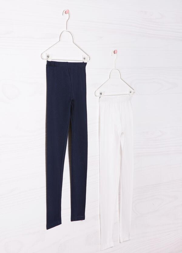 Set due leggings cotone stretch | OVS