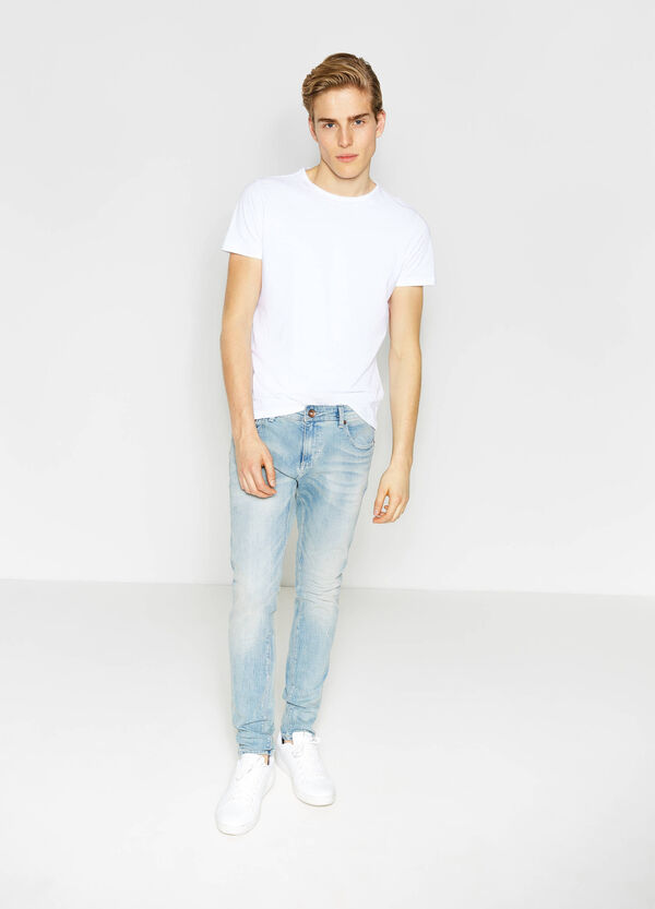 Jeans skinny fit stretch effetto used | OVS