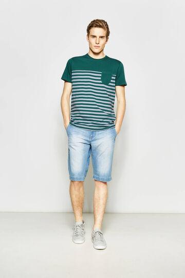Bermuda di jeans straight con tasche