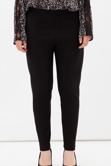 Pantaloni con elastico Curvyglam, Nero, hi-res
