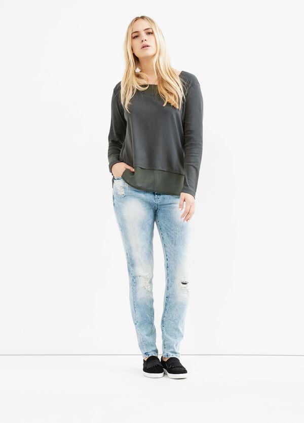 T-shirt cotone finto doppio Curvy | OVS