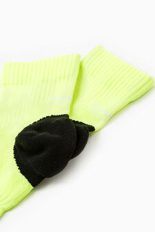 Active Sport Training stretch socks, Acid Yellow, hi-res