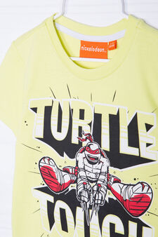 Teenage Mutant Ninja Turtle print T-shirt, Acid Green, hi-res