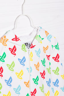 100% cotton hoodie with Playstation print, White, hi-res