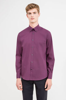 Cotton blend, regular-fit formal shirt, Purple, hi-res