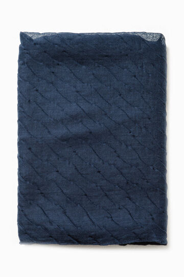 Bufanda con efecto ondulado, Azul, hi-res